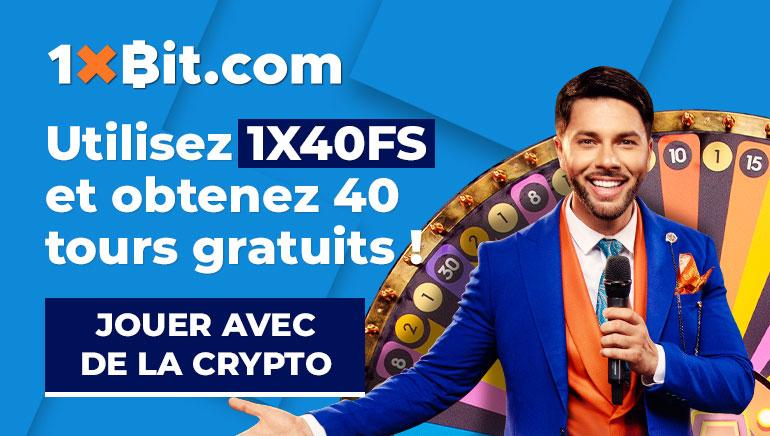 1xBit.com - Utilisez 1X40FS et obtenez 40 tours gratuits.Jouer avec de la crypto!