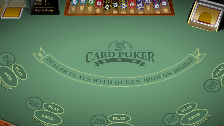 3 Card Poker Gold