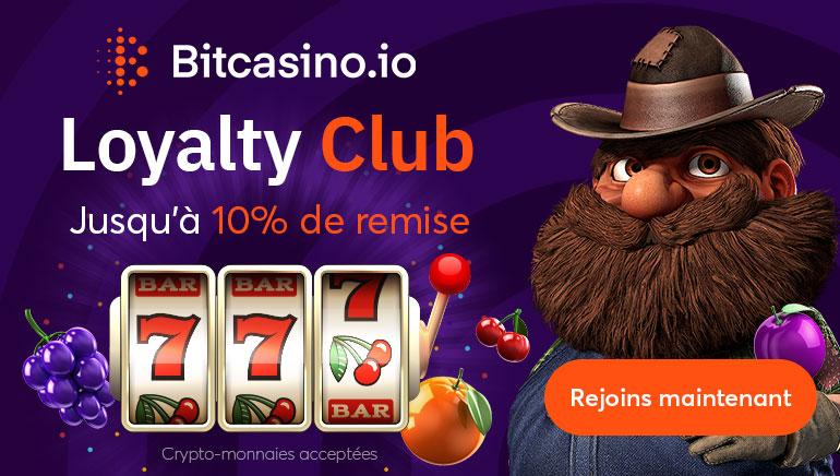 BitCasino Offre une Réduction de 10% en Cash dans Loyalty Club