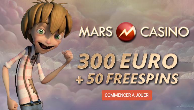 Commencez du Bon Pied avec le Bonus de Bienvenue de Mars Casino