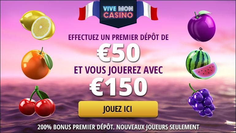 Vise la Victoire Avec le Bonus de Bienvenue de 200% de Vive Mon Casino