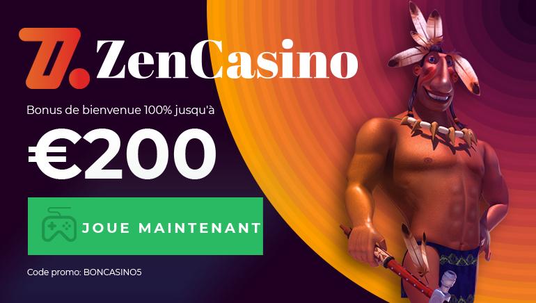 Commencez Votre Aventure chez Zen Casino Avec Un Bonus de Bienvenue De 100% Jusqu'à €200
