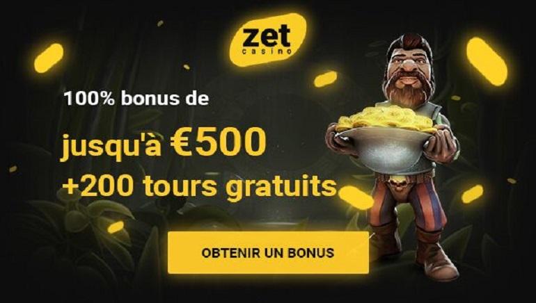 Énorme Bonus de Bienvenue & 200 Spins Gratuits Vous Attendent chez Zet Casino